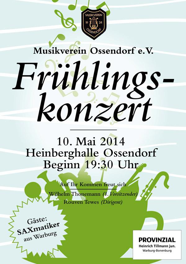 Konzertplakat Musikverein Ossendorf 2014