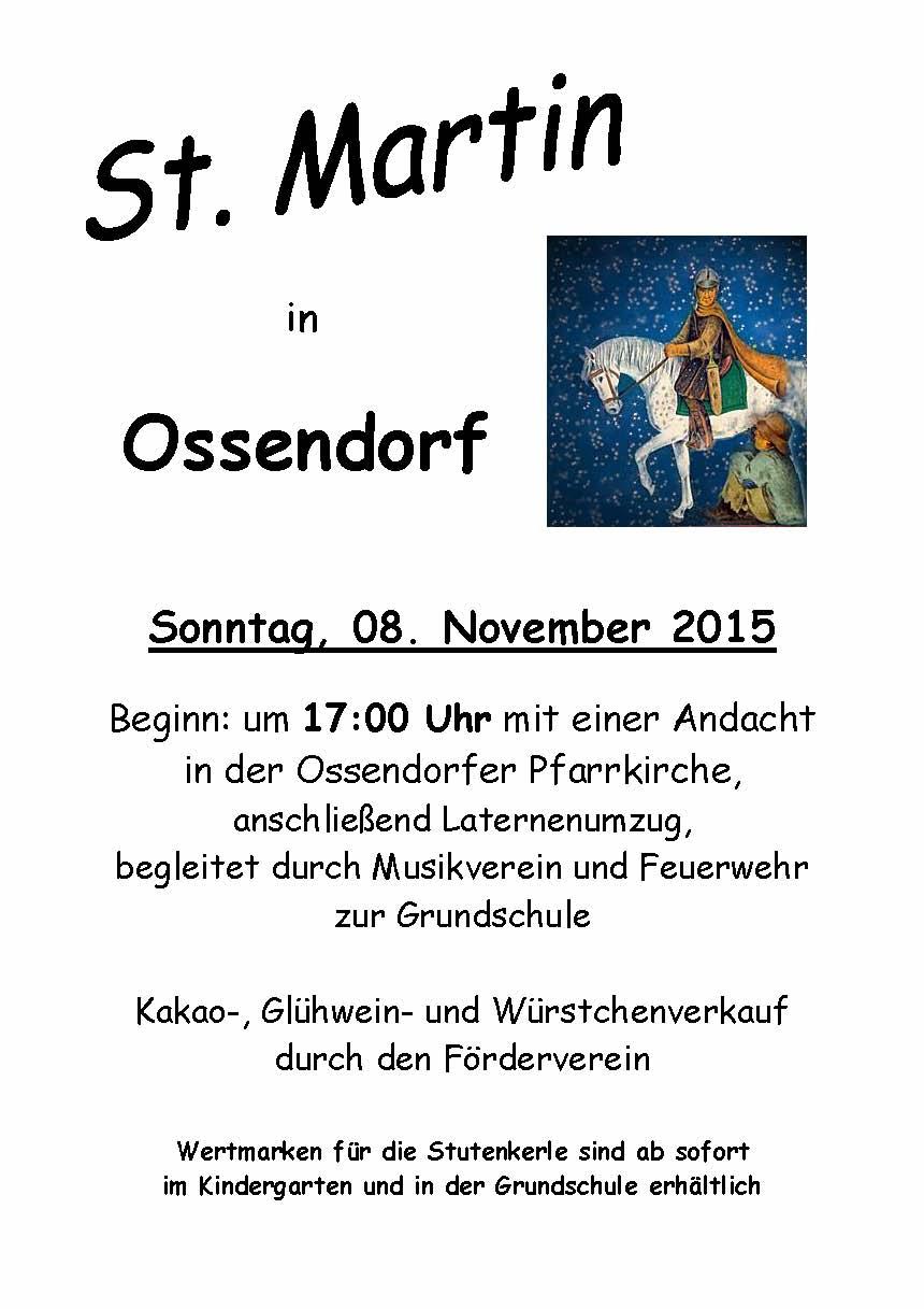 Plakat St. Martin 08.11.2015