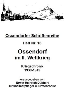 Titelblatt Ossendorfer Schriftenreihe Heft Nr. 16